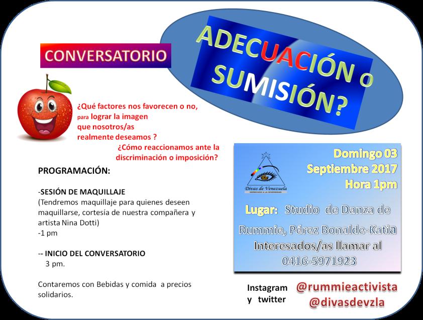 promo conversatorio ADECUACIÓN O SUMISIÓN